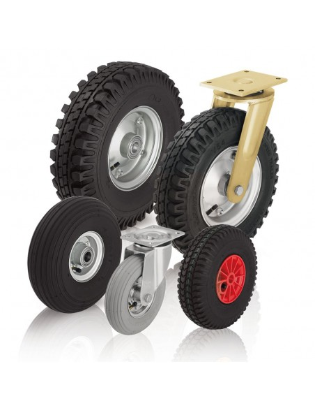 Ratai ir ratukai su pneumatinėmis (pripučiamomis) padangomis