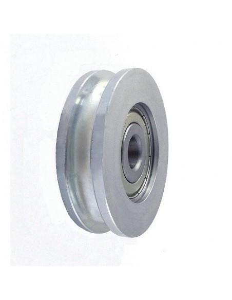Profiliuoti plastikiniai/metaliniai ratukai